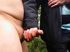 Public Hand job with cum