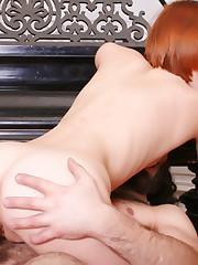 Redhead Anal Threesome